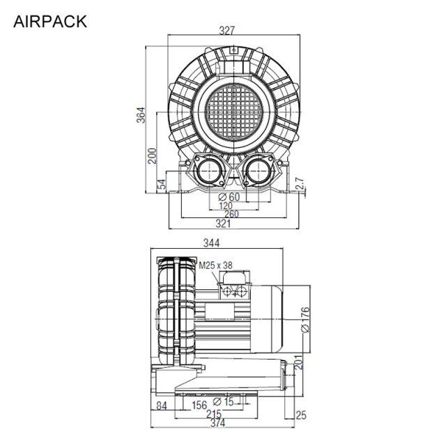 Dimensões de Instalação Leister AIRPACK