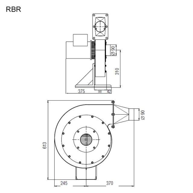 Dimensões de Instalação Leister RBR
