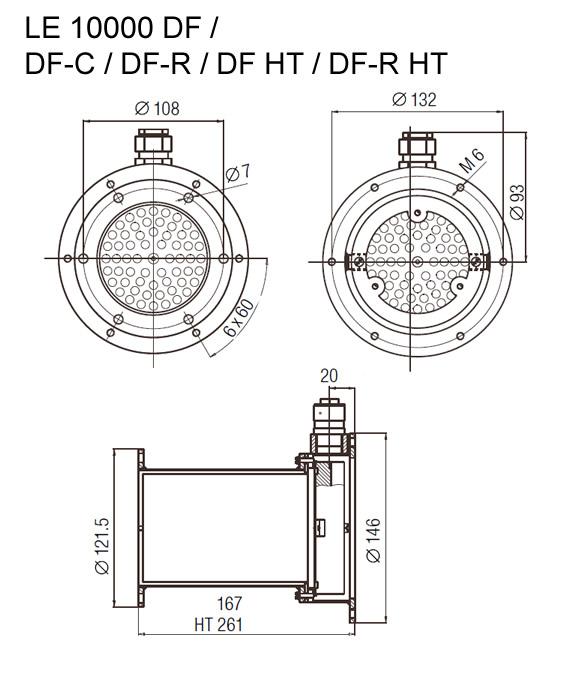 Dimensões de Instalação Leister LE 10000 DF