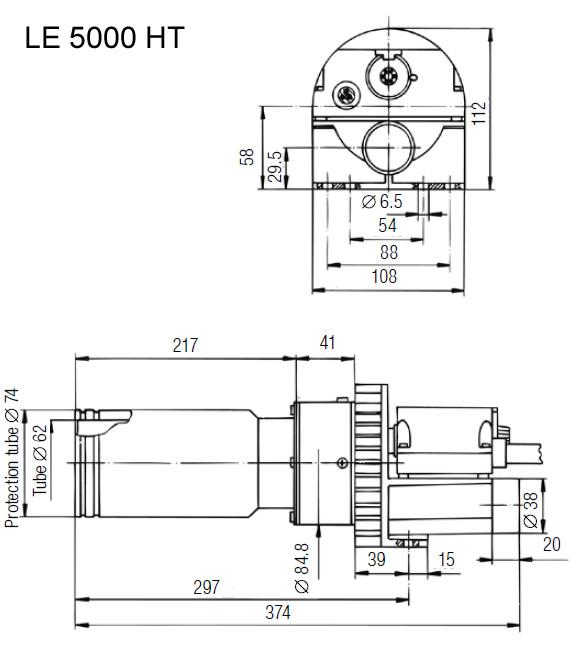 Dimensões de Instalação Leister LE 5000 HT