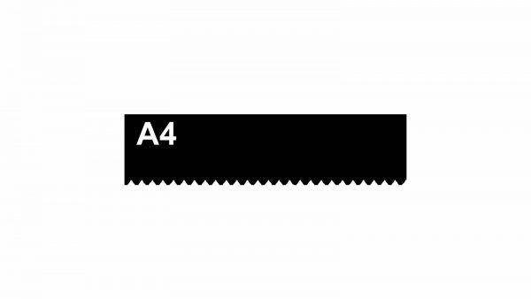 Lâmina A4 para desempenadeira