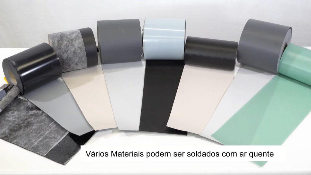 Vários tipos de lonas plásticas podem ser soldadas com ar quente
