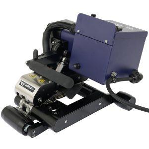 Detalhe lateral máquina de solda de geomembrana Weldy WGW 300